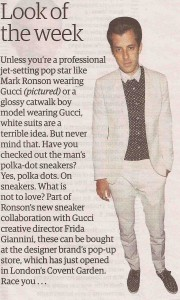 Mark Ronson look of the week