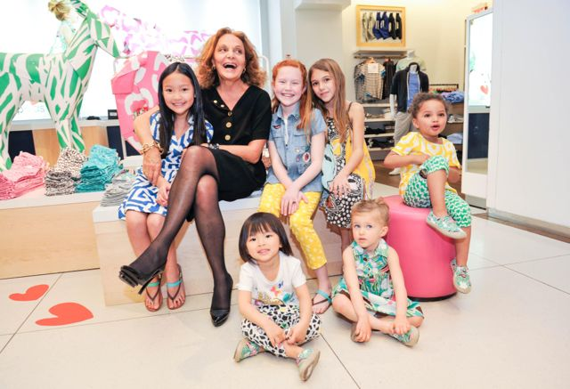Diane von Furstenberg celebrates the World Premiere of the GapKids + DVF Explorers Collection at Gap in NYC