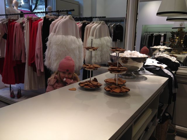 Sweden: always gingerbread snaps and marshmallows to munch on at Marlene Birger
